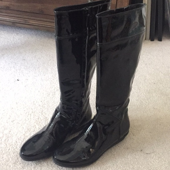 ee0d8c24a72 Cole Haan Shoes - Cole Haan Patent Leather Air Rain Boots